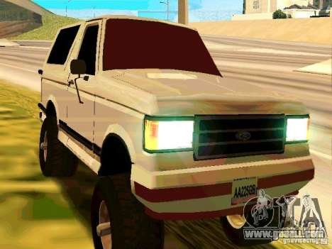 Ford Bronco 1990 for GTA San Andreas left view