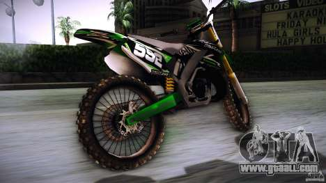 Kawasaki KLX 250S for GTA San Andreas left view