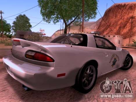 Chevrolet Camaro 2002 California Highway Patrol for GTA San Andreas back left view