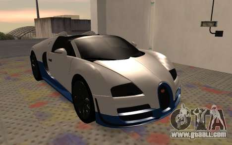 Bugatti Veyron Grand Sport Vitesse for GTA San Andreas left view