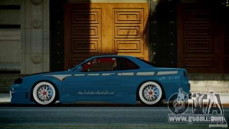 Nissan BNR-34 GT-R for GTA 4 left view