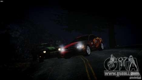 Mercedes Benz C63 AMG SAIBON Paint Job for GTA 4 back view