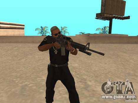 M4A1 from Left 4 Dead 2 for GTA San Andreas third screenshot
