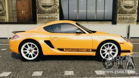 Porsche Cayman R 2012 [RIV] for GTA 4 left view