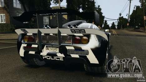 McLaren F1 ELITE Police for GTA 4 back left view