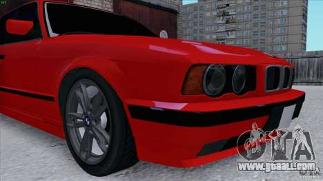BMW 525i E34 for GTA San Andreas back view