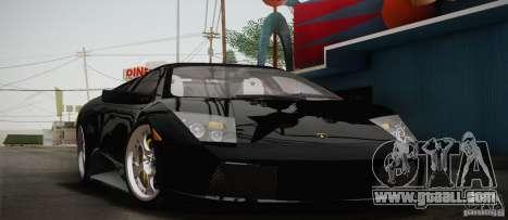 Lamborghini Murcielago 2002 v 1.0 for GTA San Andreas inner view