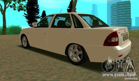 Vaz-2170 for GTA San Andreas back left view