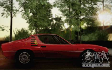 Alfa Romeo Montreal 1970 for GTA San Andreas back left view