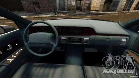 Chevrolet Caprice 1991 for GTA 4 back view