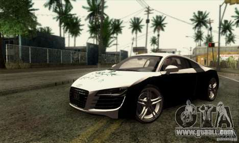 Audi R8 for GTA San Andreas inner view
