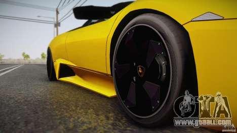 Lamborghini Reventón Roadster 2009 for GTA San Andreas inner view
