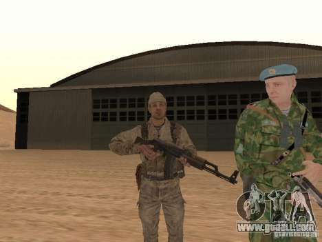 A Soviet Soldier Skin for GTA San Andreas