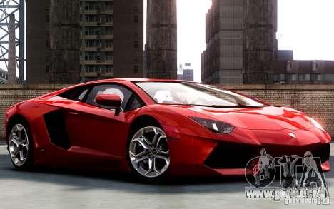 Lamborghini Aventador LP700-4 2012 for GTA 4