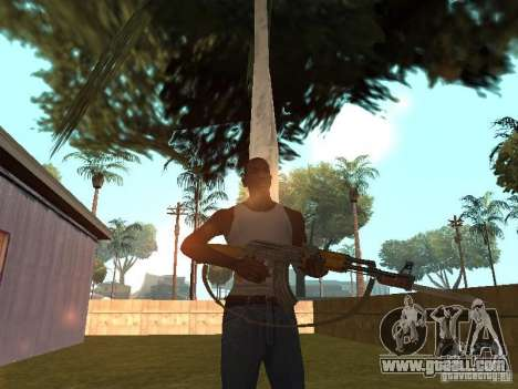 AK 47 with a bayonet-knife HD for GTA San Andreas forth screenshot