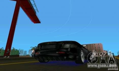 Mercedes-Benz SLR McLaren 722 Black Revel for GTA Vice City right view