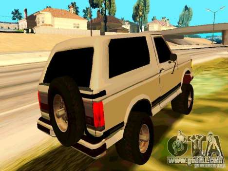 Ford Bronco 1990 for GTA San Andreas right view