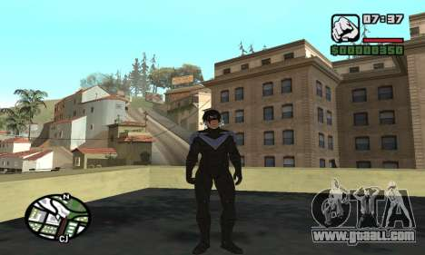 Nightwing skin for GTA San Andreas sixth screenshot