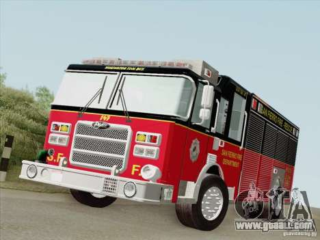 Pierce SFFD Rescue for GTA San Andreas left view