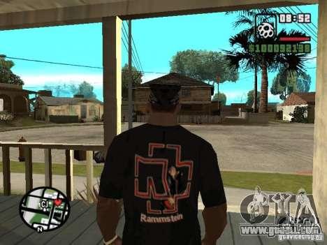 Rammstein t-shirt v1 for GTA San Andreas second screenshot