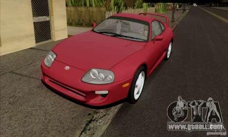 Toyota Supra RZ 98 Twin Turbo for GTA San Andreas