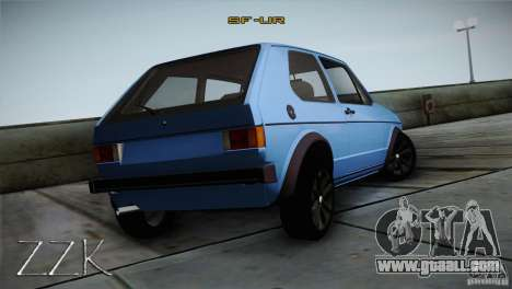 Volkswagen Golf MK1 for GTA San Andreas right view