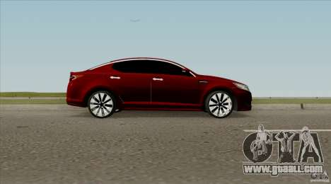 KIA Optima for GTA San Andreas back left view