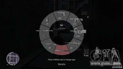 GTA 5 Weapon Wheel HUD for GTA 4 second screenshot