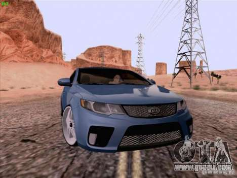 Kia Cerato Coupe 2011 for GTA San Andreas back left view
