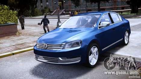 VW Passat B7 TDI Blue Motion for GTA 4