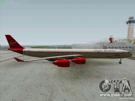 Airbus A-340-600 Virgin for GTA San Andreas left view