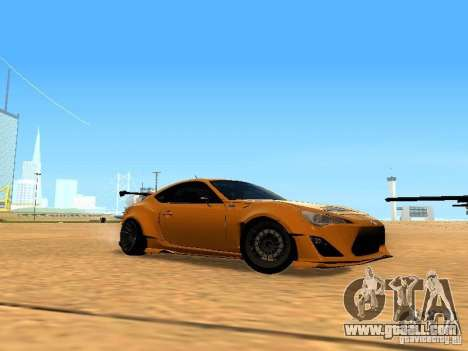 Toyota FT86 Rocket Bunny V2 for GTA San Andreas inner view