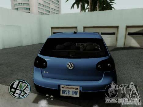 Volkswagen Golf V R32 Black edition for GTA San Andreas back left view
