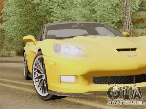 Chevrolet Corvette ZR1 for GTA San Andreas interior