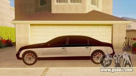 Maybach 62 for GTA San Andreas left view