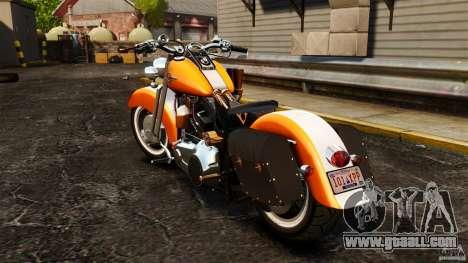 Harley Davidson Fat Boy Lo Vintage for GTA 4 back left view