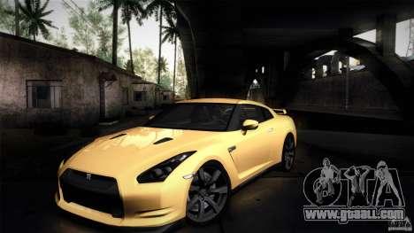 Nissan GT-R35 v1 for GTA San Andreas inner view