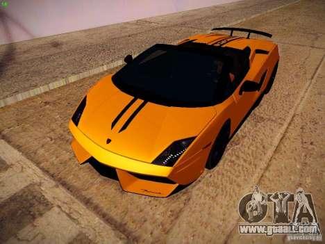 Lamborghini Gallardo LP570-4 Spyder Performante for GTA San Andreas left view