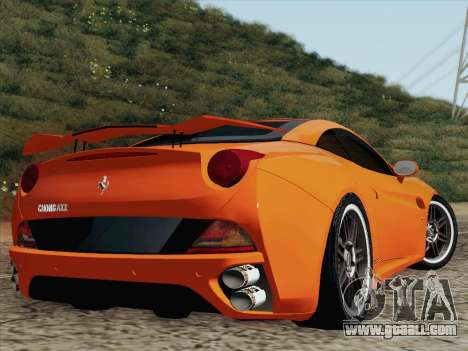 Ferrari California for GTA San Andreas back left view