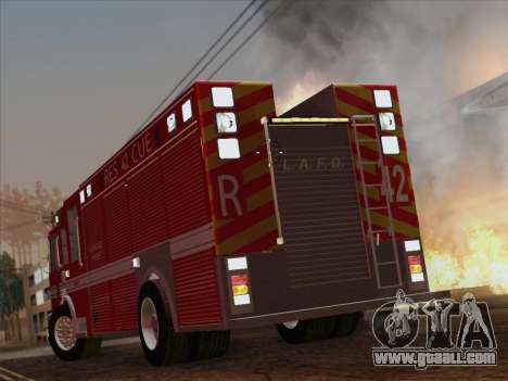 Pierce Contender LAFD Rescue 42 for GTA San Andreas upper view