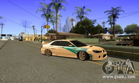 Subaru Impreza WRX STi 2006 for GTA San Andreas inner view