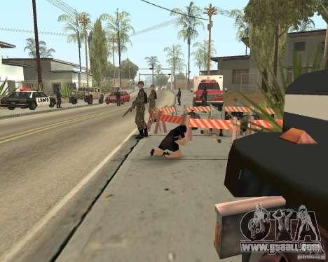 Scene of the crime (Crime scene) for GTA San Andreas seventh screenshot