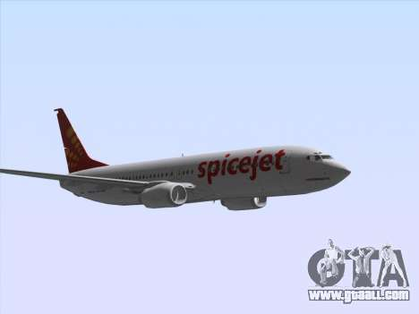Boeing 737-8F2 Spicejet for GTA San Andreas inner view