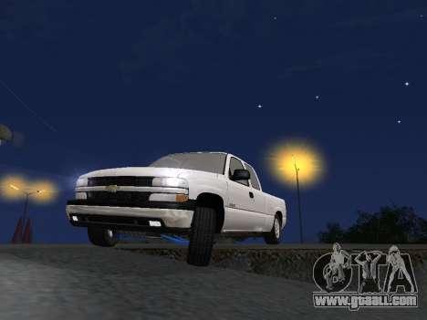 Chevorlet Silverado 2000 for GTA San Andreas interior