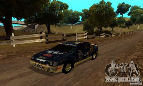 Ford Sierra RS500 Cosworth RallySport for GTA San Andreas
