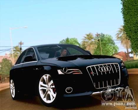 Audi S4 2010 for GTA San Andreas interior