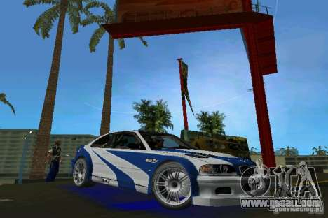 BMW M3 GTR NFSMW for GTA Vice City