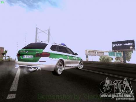 BMW M5 Touring Polizei for GTA San Andreas upper view