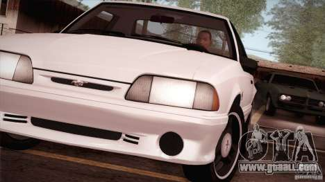 Ford Mustang SVT Cobra 1993 for GTA San Andreas right view