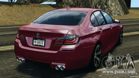 BMW M5 2012 for GTA 4 back left view